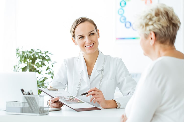 Female Doctor explaining endocrinology results to patient