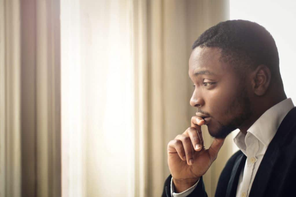 Man considering whether or not have a vasectomy procedure done - Maiden Lane Medical, NYC