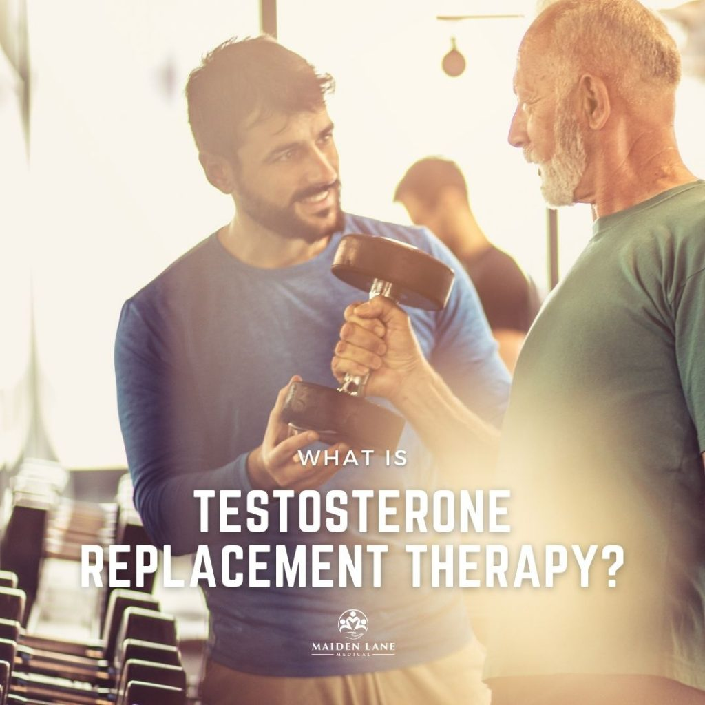 Senior man working out after testosterone replacement therapy - Maiden Lane Medical, Midtown, NY
