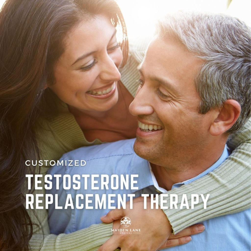 Man enjoying relationship with partnr because of testosterone replacememnt therapy - Maiden Lane Medical, NY